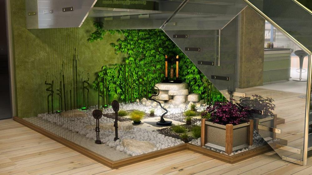 How To Make A Small Pebble Garden Under The Stairs - Page ... on Backyard:uuezyx-Hy-8= Landscape Design  id=25239
