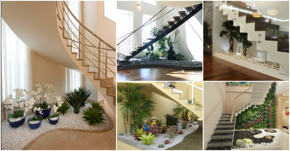 How To Make A Small Pebble Garden Under The Stairs