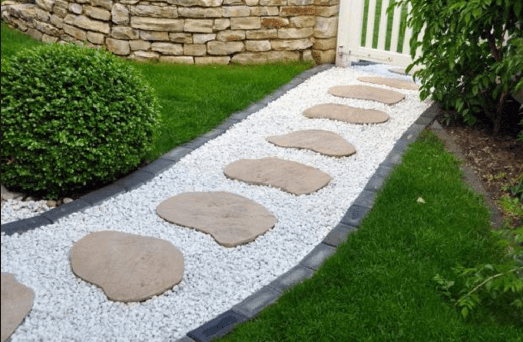 Wonderful Landscaping Ideas With White Pebbles And Stones ... on Pebble Yard Ideas id=56587