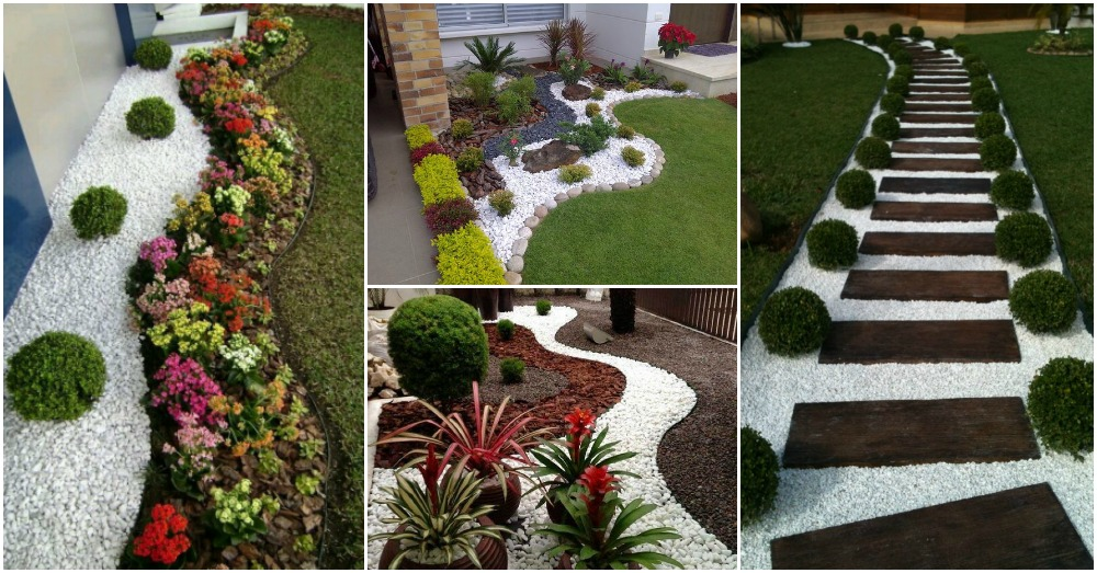 Wonderful Landscaping Ideas With White Pebbles And Stones on Backyard Pebbles Design id=69306