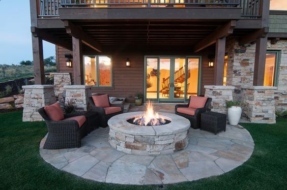 Inviting Round Fire Pit Areas For Your Utmost Relaxation