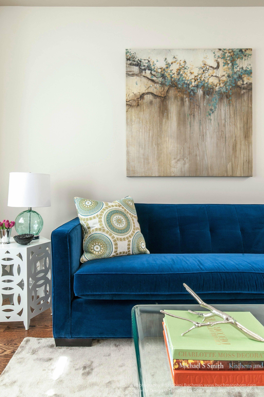 Blue Velvet Sofa Ideas For Creating A Royal Living Room