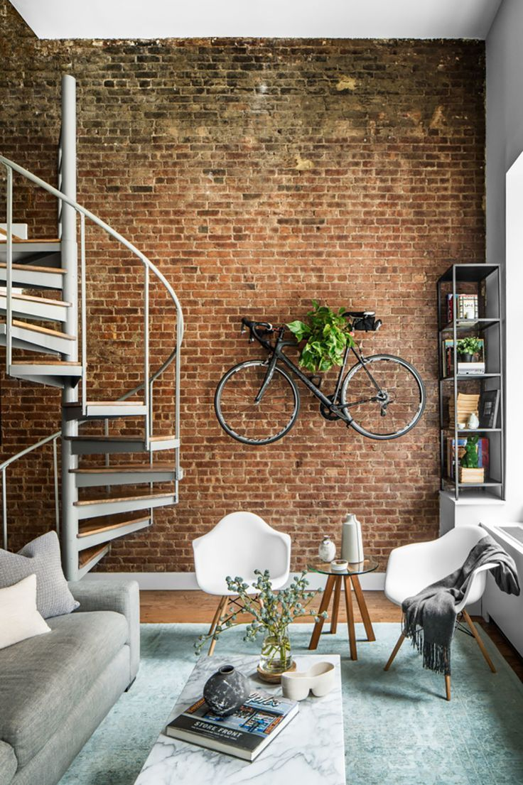 Charming Exposed Brick Interiors That Look So Warm And ... on Brick Wall Decorating Ideas  id=63632