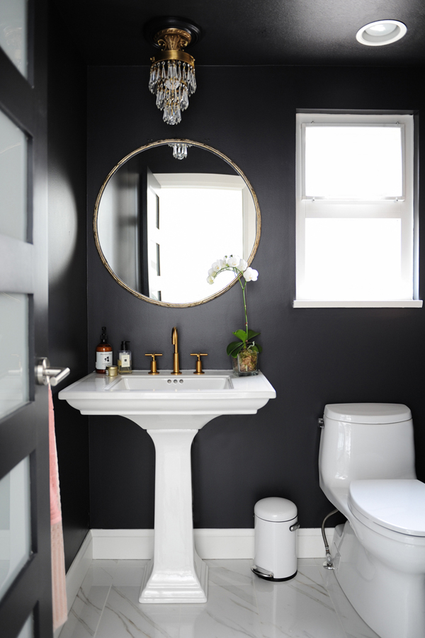 Elegant Powder Room Ideas And Tips For The Perfect Design ... on Modern:kkgewzoz5M4= Small Bathroom  id=87745
