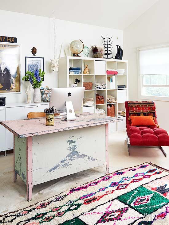 Bohemian Home Office Ideas For A Calm Work Space
