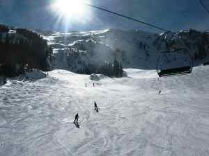 Uncrowded Taos Ski Valley.