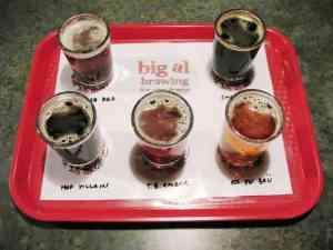Sampler at Big Al's Brewery.