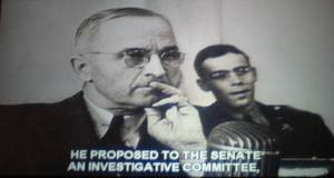 Image from Harry S. Truman film at the Truman Museum in Independence.