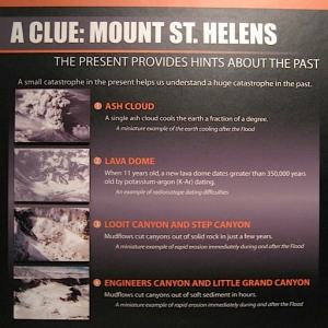 A Clue: Mount St. Helens at The Creation Museum