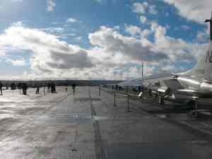 Runway on the deck of the USS Midway in San Diego