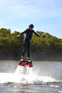 Flyboarding will have you levitating above the water.
