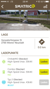 Smatrics App zeigt Ladevorgang