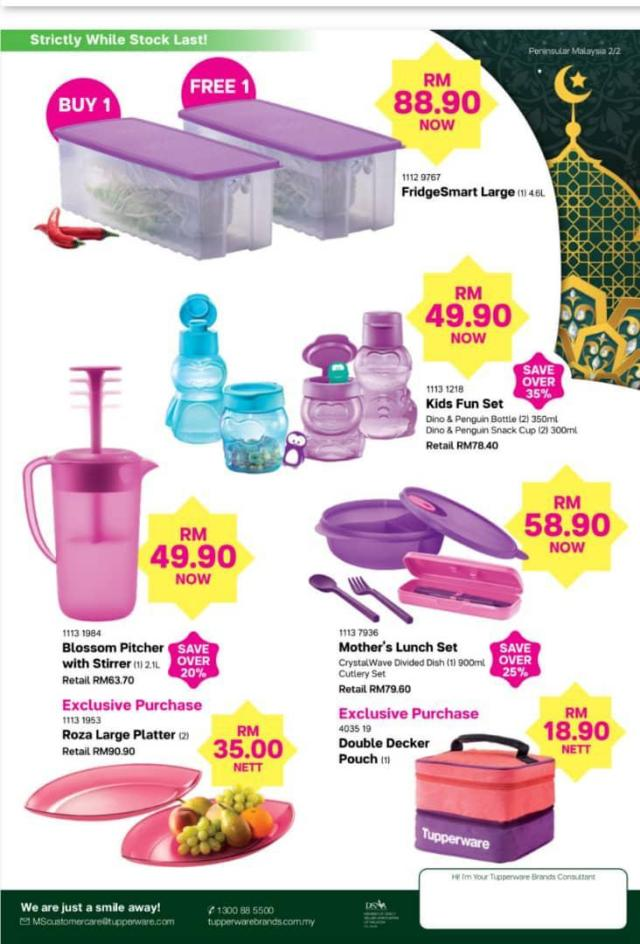 Promo Tupperware Bulan April 2019