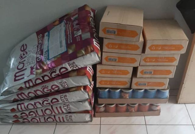 Double Charity Donation To Community Cats And Dogs