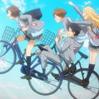 Miyazono Kaori, Arima Kousei, Sawabe Tsubaki & Watari Ryouta