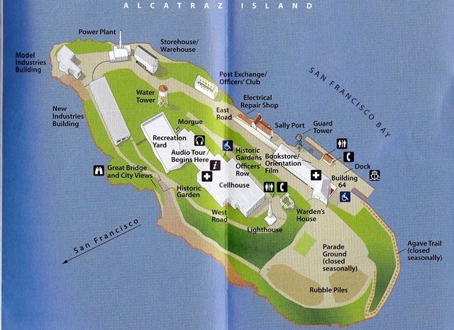 19. ဒါကေတာ႕ Alcatraz အက်ဥ္းေထာင္ ရဲ႕ ေျမပံု ပါ ။
