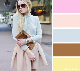 A romantic pastel combination