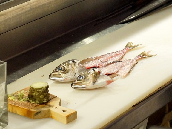 Kiyokawa: Two Ex-Aji (Spanish Mackerel)