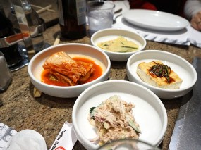 """I said that Chosun Galbee has good banchan but I'm really not sure about the tuna salad in front; it's not that it was bad but it felt """"wrong"""" in a way that the usual potato salad doesn't."""