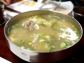Galbi tang for our boys. I tasted some of this: it was rather good.