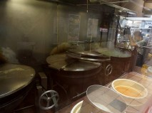 If you come in through the parking lot at the back you can see their titular big pots bubbling away in the kitchen.