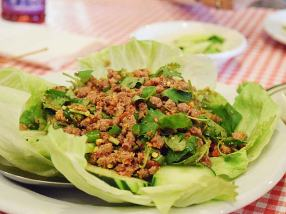 The larb (also not in the salads section) was probably my favourite thing on the table. Didn't seem to have any toasted rice powder in it but was otherwise good.