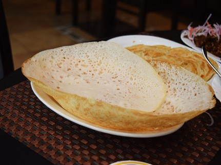 The appam was no great shakes (too crisp).