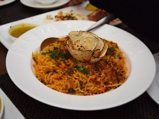 A biryani made with young jackfruit. I tasted the rice and I have to say it was somewhat ordinary.