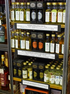 They also sell a lot of minis and small bottles. The minis, interestingly, are priced entirely by age brackets.