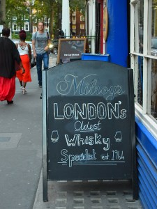 """They proclaim themselves """"London's oldest whisky specialist""""."""