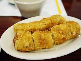 The egg rolls are solid, by which I mean they're good, not that they're hard or dense.