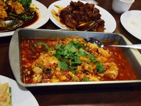 Another newcomer to the printed menu, this is one of the Sichuan dishes that puts me in mind of Bengali food while not tasting like it. I can't explain it, but I can tell you this is always very good.