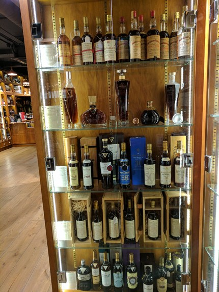 They also have a fair bit of old Macallan. This is one of two cabinets.