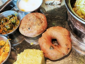 And the vada is a crime against south India: dense and cold to boot.