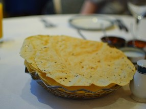 The papads were generic but fried nicely.