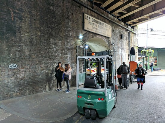 Borough Market: Under the bridge