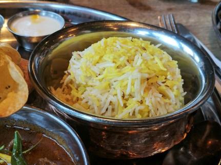 The pulao/zeera rice was done well.