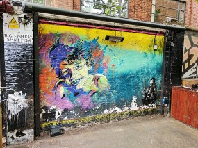 C215 is a well-known French artist. This is also in the Cargo Club courtyard.