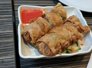 Sort of a spring roll on steroids, these are very good indeed.