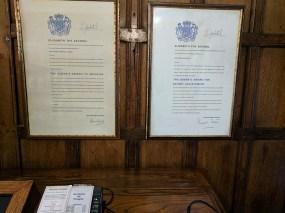 Two awards from Elizabeth II.