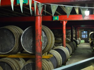 Lagavulin: Rows and rows of casks