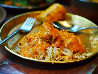 Hoppers: Fish kari over rice