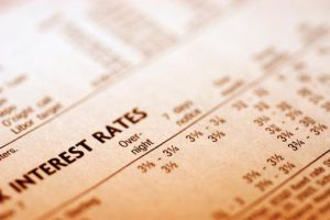 Report showing rising interest rate data