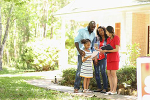 Young family lists house with realtor