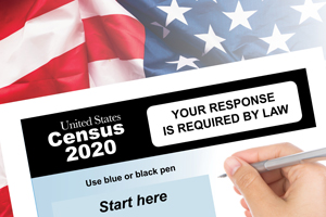 2020 census sheet being filled out