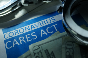coronavirus cares act flyer with 20 bills