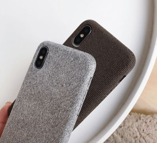 Cloth Texture Silicone iPhone case