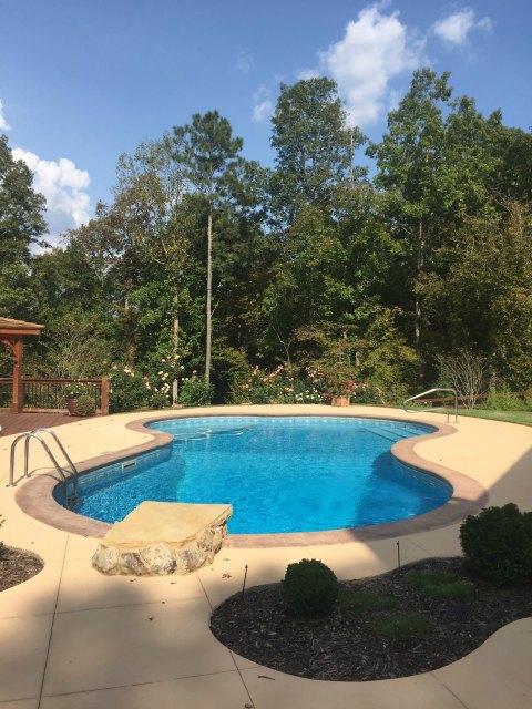 Fiberglass pool with spa - Aqua Fun