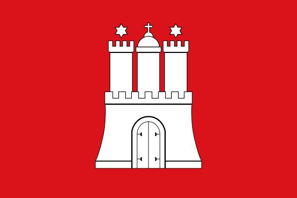 bandiera città libera amburgo