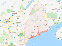 207 Area Code Map